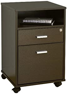 Enitial Lab Flash Drawer File Cabinet Dark Espresso