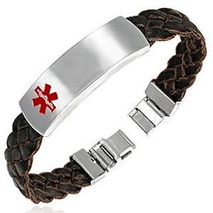 I.D. Style Leather Bracelets