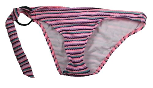 Roxy - Womens Scooter Bikini Bottom, Size: Small, Color: Blanket Stripe Electric Coral