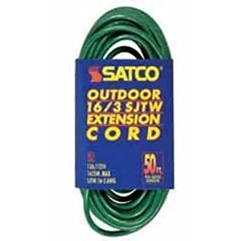 satco 80 ft green outdoor light duty extension cord 935026. Black Bedroom Furniture Sets. Home Design Ideas