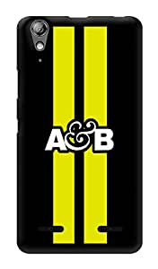 "Humor Gang Above And Beyond Logo - Yellow Printed Designer Mobile Back Cover For ""Lenovo A6000 Plus"" (3D, Glossy, Premium Quality Snap On Case)"