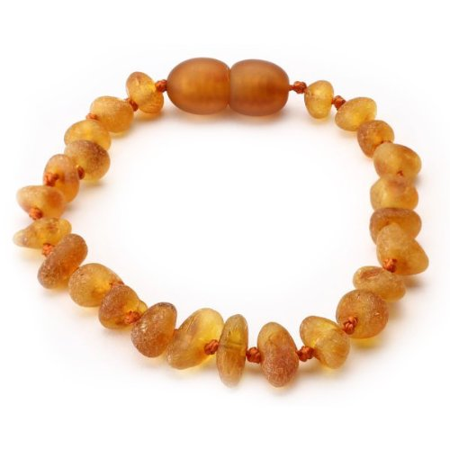 [AB001] Honey Colour Baltic Amber Bracelet with Raw Unpolished Beads