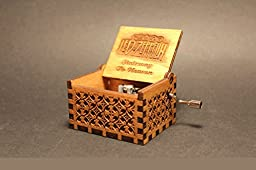 Engraved Wooden Music Box Stairway To Heaven