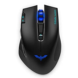 HAVIT 2.4GHz Wireless Gaming Mouse, 4000DPI, 3 LED Colors,7 buttons,for PC/Computer/Laptop