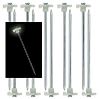 "10pc Glow-in-the-Dark Tent Stakes - 10"" Steel Peg by NRC"
