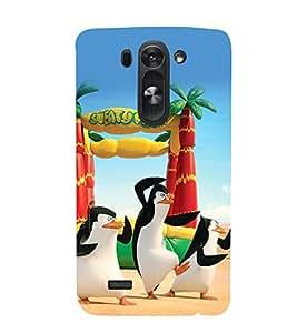 printtech Madagascar Penguins Beach Back Case Cover for LG G3 Beat::LG G3 Vigor::LG G3s::LG g3s Dual