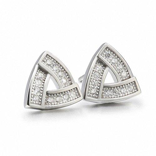 weihnachten Deal Silber  Sterling Silber Schmuck eingelegten Fein Ohrringe für Männer  Triangle Frauen Ohrringe für Männer