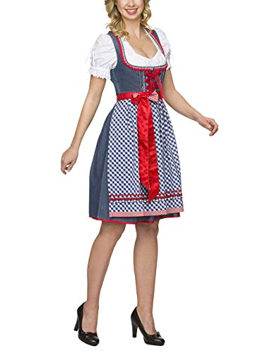 Stockerpoint Damen Dirndl Varisa, Blau (Denim), 38 thumbnail