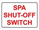 ComplianceSigns Aluminum Swimming Pool / Spa Sign, 7 x 5 in. with English Text, White