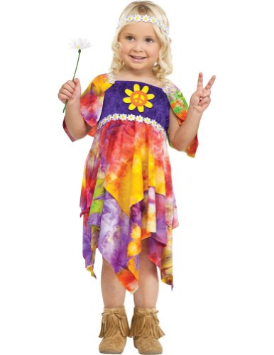 baby-girls - Daisy Hippie Toddler Costume 3T-4T Halloween Costume