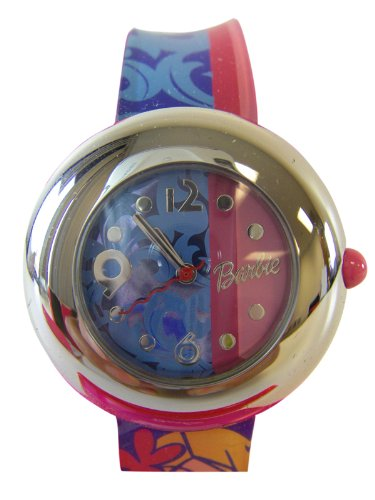Barbie Girl's Fashion Watch with 2 color jelly band
