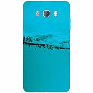 Samsung J7 new edition 2016 Back Cover - Silicon Blued Designer Cases