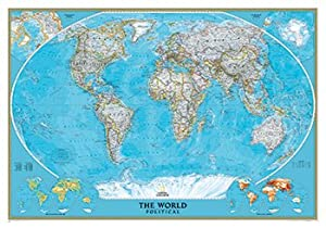 National geographic re00622007 world classic mural map for Amazon world map mural