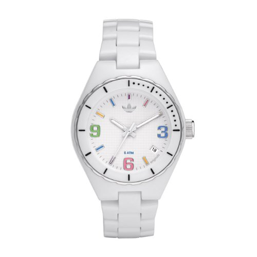Adidas Women's Midsize Cambridge ADH2502 White Plastic Quartz Watch with White Dial