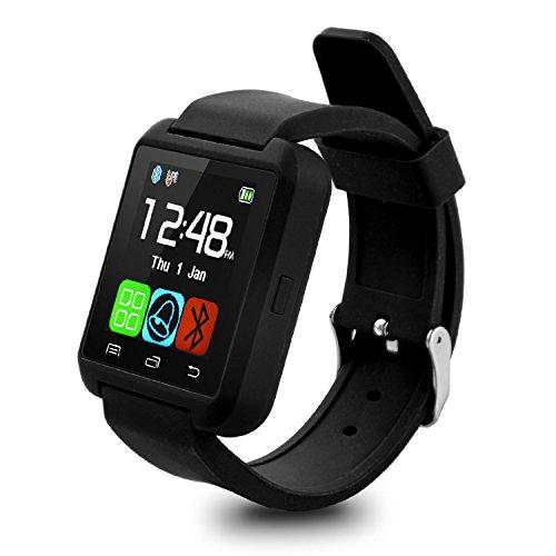 "Swees U8 - Reloj inteligente (pantalla 1.48"", Bluetooth, USB) para Android, IOS, color negro"
