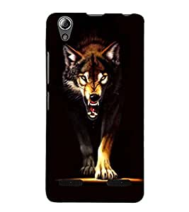 Vizagbeats Anger Wolf Back Case Cover for Lenovo A6000 Plus
