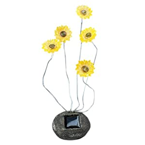 Click to read our review of Decorative Yellow Sunflowers Garden Solar Lights With 5 Blinking LEDs