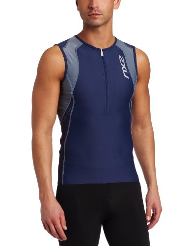 2xu Men S Long Distance Aero Tri Singlet Leather Pistol