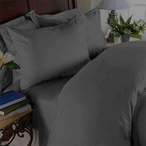 Elegant Comfort 1500 Thread Count Wrinkle Resistant Egyptian Quality Ultra Soft Luxurious 3-Piece Bed Sheet Set, Twin, Gray (Egyptian Cotton Twin Sheets compare prices)