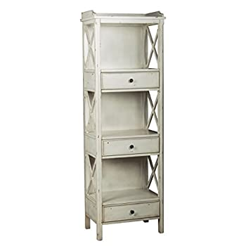 Pulaski Lawrence Bookcase, 22 by 67 by 14-Inch, White