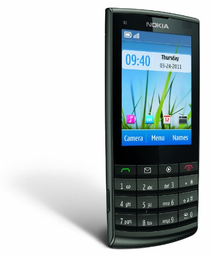 Nokia X3-02 Unlocked Touch and Type GSM Phone with 5 MP Camera–U.S. Version with Warranty (Metal)