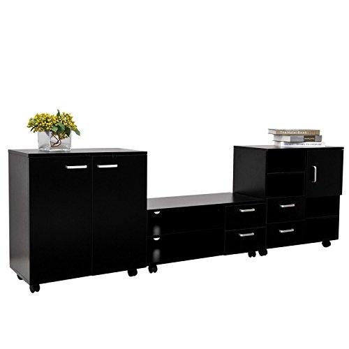 homcom-living-room-mobile-3-piece-trio-furniture-set-tv-cabinet-besides-storage-chest-black-new