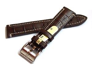 Di-Modell Bali Chrono, Correa de Piel, Marrón Oscuro, 20mm