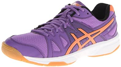 ASICS Women's Gel Upcourt Volleyball Shoe,Violet/Orange/Silver,7.5 M US