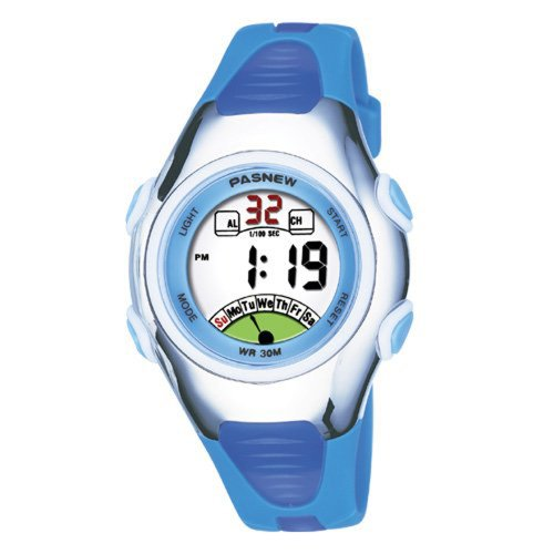 Very Sweet Children Boys Girls Digital Waterproof Luminous Watches With Alarm Chronograph Date - Blue