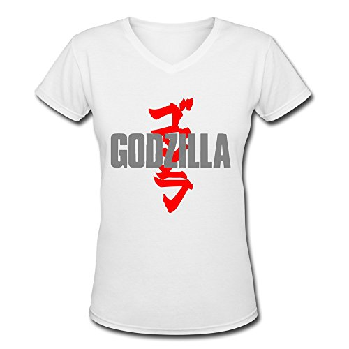 [AOPO Godzilla V-Neck Short Sleeve Tees For Women XX-Large] (Anguirus Costume)