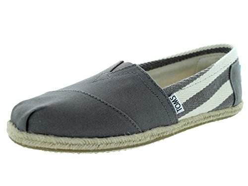Toms Womens Classic Stripe University Slip On Casual Shoe