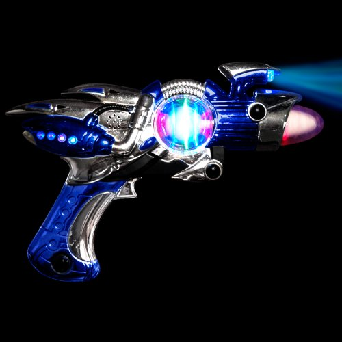 Large Blue Light Up Toy Gun With Sound Effects (Noise Gun compare prices)