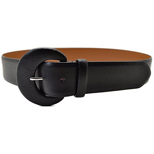 Ralph Lauren Leather C-Buckle Belt, Black, XL