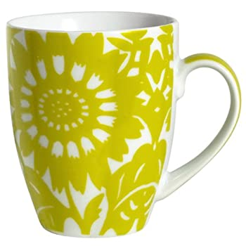 Yellow-Green Zinnia Mug