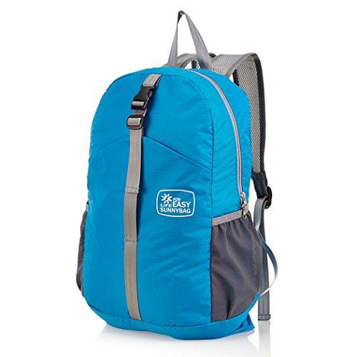 Doomagic N17 Foldable Backpack Packable Handy Waterproof Bag Lightweight For Travel Camping Hiking Daypack (Blue)