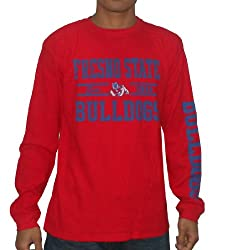 NCAA Fresno State Bulldogs Mens Long Sleeve Pullover Sweater / Jersey