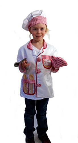 [Chef - Dress-Up Role Play Costume Set for Boys and Girls with Toy Accessories Collection] (Chef Costumes For Kids)