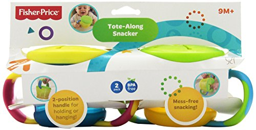 Fisher-Price Tote Along Snacker, 2-Count (Discontinued by Manufacturer)