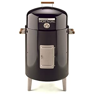 Brinkmann 810-5301-6 Smoke'N Grill Charcoal Smoker and Grill, Black