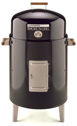 Brinkmann 810-5301-6 Charcoal Grill and Smoker, Black