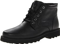 Rockport Men\'s Northfield WP Plain Toe Chukka Boot, Black Waterproof, 12 M US