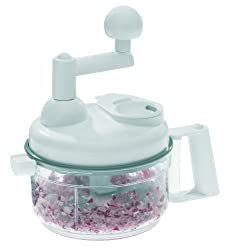 Westmark Germany Manual Food Processor Kitchen Witch - Chop, Blend, Whip, Mix, Slice, Shred, Julienne, and Juice