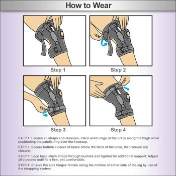 Ace Hinged Knee Brace Ace Brand Ace Stabilizing Health Support Stabilization Flexible