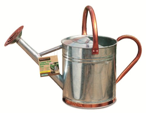 GARDMAN COPPER TRIM WATERING CAN 2 GALLONS/9 L GARDEN