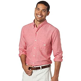 Chaps classic fit oxford solid casual button down shirt for Chaps button down shirts