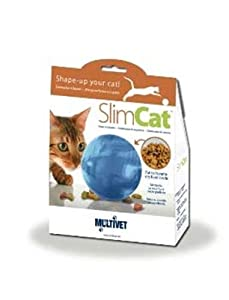 PetSafe TOY00001 SlimCat Interactive Toy and Food Dispenser, Blue