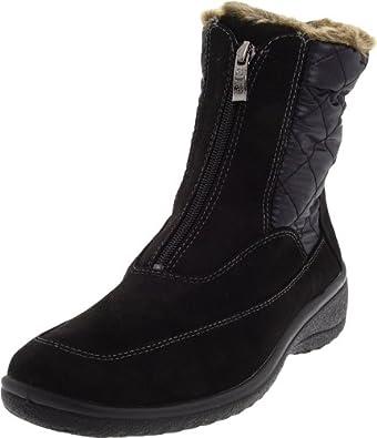 ara Women's Maeko Boot,Black Synthetic Suede/Fabric,6.5 W US