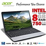 ACER TRAVELMATE P253-E INTEL CELERON DUAL CORE 1000M (1.8GHZ), 8GBDDR3 RAM, 750GBHDD, 15.6
