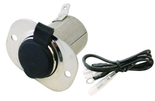 Invincible Marine 12-Volt Stainless Steel Power Socket with Cover