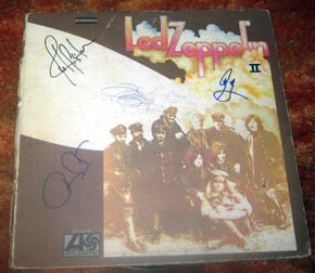 Led Zeppelin W/ John Autographed Signed Zepp 2 Record *Proof